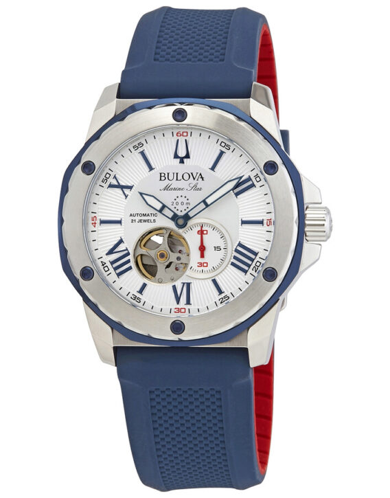 bulova-marine-star-automatic-silver-white-dial-mens-watch-98a225--