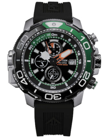 citizen promaster bj2168-01e cronografo con profondimetro verde
