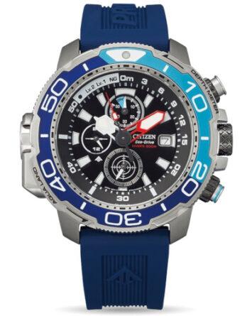 citizen promaster bj2169-08e cronografo con profondimetro blu