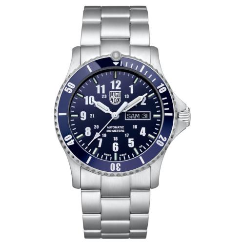 luminox automatic xs.0920 cassa e bracciale acciaio quadrante blu