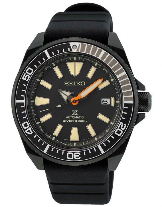 Seiko SRPH11K1 Samurai Black Limited Edition cassa pvd nero indici sabbia cinturino silicone nero